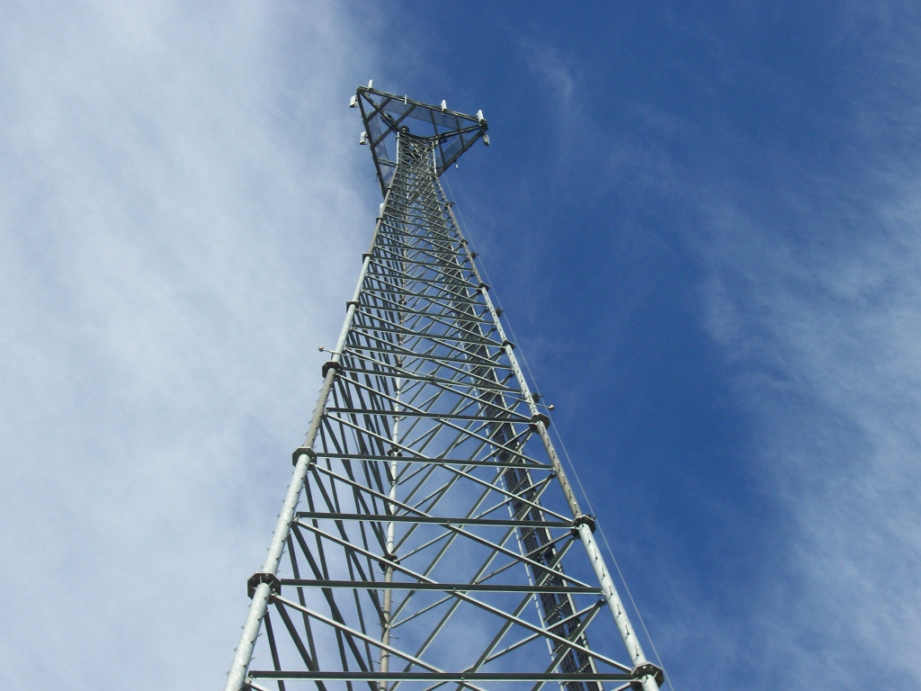 Putting Up A New Cell Tower For Wireless Communications